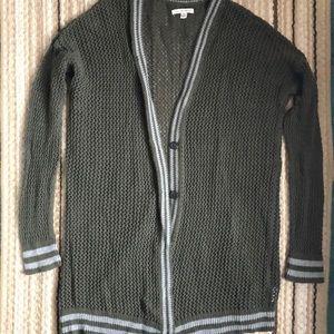 Long Loose Knit Cardigan